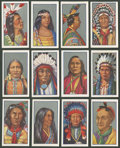 """Non-Sport Cards:Sets, 1930's Godfrey Phillips """"Red Indians"""" Complete Set (25)...."""