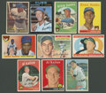 Baseball Cards:Lots, 1950's-1970's Topps HoFers Ernie Banks and Al Kaline Collection(10). ...