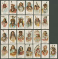 "Non-Sport Cards:Sets, 1887 N2 Allen & Ginter ""Indian Chiefs"" Partial Set (25/50). ..."
