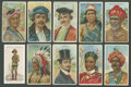 "Non-Sport Cards:General, 1910-11 T113 ""Types Of Nations"" Complete Set (50) Plus J. Player""Military Uniforms"" Partial Set (32/50). ..."