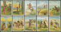 """Non-Sport Cards:Sets, 1910 T73 Hassan """"Indian Life in the 1860's"""" Complete Set (50) PlusDuplicates...."""