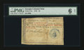 Colonial Notes:Georgia, Georgia 1776 $1 PMG Good 6 Net....