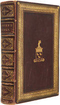 Books:Fiction, [Fore-edge Painting]. William Cowper. The Works: His Life, Letters, and Poems. London: William Tegg and Co., 185...