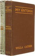 Books:First Editions, Willa Cather. Two First Editions, including: My Antonia.With illustrations by W. T. Benda. Boston and New York:... (Total:2 Items)