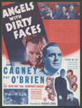 "Movie Posters:Crime, Angels with Dirty Faces (Warner Brothers, 1938). Herald (8.75"" X11.5""). Crime.. ..."