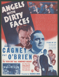 """Angels with Dirty Faces (Warner Brothers, 1938). Herald (8.75"""" X 11.5""""). Crime"""