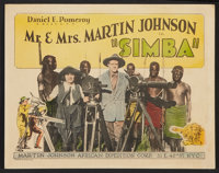 """Simba: The King of the Beasts (Martin Johnson African Expedition Corp., 1928). Title Lobby Card (11"""" X 14""""). D..."""