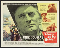 """Lonely Are the Brave (Universal International, 1962). Half Sheet (22"""" X 28""""). Western"""