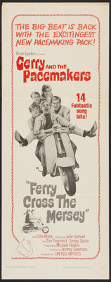 """Ferry Cross the Mersey (United Artists, 1965). Insert (14"""" X 36""""). Rock and Roll"""