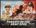"Movie Posters:War, Pursuit of the Graf Spee (Rank, 1957). British Half Sheet (22"" X28""). War.. ..."