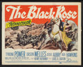 "Movie Posters:Adventure, The Black Rose (20th Century Fox, 1950). Title Lobby Card and LobbyCard (11"" X 14""). Adventure.. ... (Total: 2 Items)"