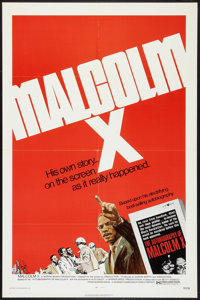 "Malcolm X (Warner Brothers, 1972). One Sheet (27"" X 41""). Documentary"