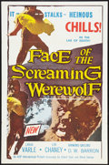 """Movie Posters:Horror, Face of the Screaming Werewolf (A.D.P., 1965). One Sheet (27"""" X 41""""). Horror.. ..."""