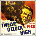 "Movie Posters:War, Twelve O'Clock High (20th Century Fox, 1949). Six Sheet (81"" X81""). War.. ..."
