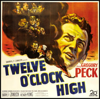 "Twelve O'Clock High (20th Century Fox, 1949). Six Sheet (81"" X 81""). War"