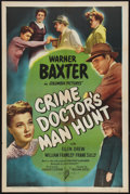 """Movie Posters:Mystery, The Crime Doctor's Man Hunt (Columbia, 1946). One Sheet (27"""" X41""""). Mystery.. ..."""