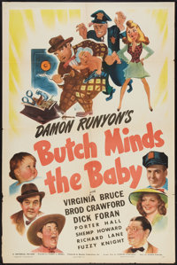 """Butch Minds the Baby (Universal, 1942). One Sheet (27"""" X 41""""). Comedy"""