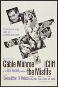 "Movie Posters:Drama, The Misfits (United Artists, 1961). One Sheet (27"" X 41""). Drama....."