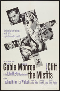 "The Misfits (United Artists, 1961). One Sheet (27"" X 41""). Drama"