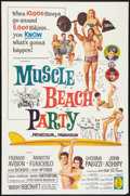 "Movie Posters:Comedy, Muscle Beach Party (American International, 1964). One Sheet (27"" X 41""). Comedy.. ..."