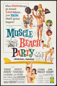 "Muscle Beach Party (American International, 1964). One Sheet (27"" X 41""). Comedy"
