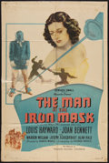 """Movie Posters:Adventure, The Man in the Iron Mask (PRC, R-1947). One Sheet (27"""" X 41""""). Adventure.. ..."""