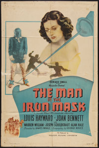 """The Man in the Iron Mask (PRC, R-1947). One Sheet (27"""" X 41""""). Adventure"""