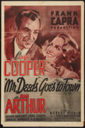 """Movie Posters:Comedy, Mr. Deeds Goes to Town (Columbia, R-1950). One Sheet (27"""" X 41""""). Comedy.. ..."""