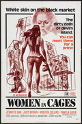 "Movie Posters:Sexploitation, Women in Cages (New World, 1971). One Sheet (27"" X 41"") and Stills(3) (8"" X 10""). Sexploitation.. ... (Total: 4 Items)"