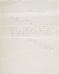 Autographs:Military Figures, Confederate General Benjamin Huger Letter Signed as commander of Pikesville Arsenal to the secretary of war [John B. Floyd] ...
