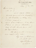"Autographs:Military Figures, Confederate General States Rights Gist Autograph General Order No. 71 Signed ""S. R. Gist."" One page, 7.5"" x 9.75"", May 2..."