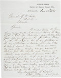 "Autographs:Military Figures, Confederate General Henry Constantine Wayne Autograph Letter Signedto Gustavus W. Smith on ""State of Georgia Adjutant and..."