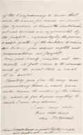 "Autographs:Military Figures, Confederate General Alexander Peter Stewart Autograph Letter Signed""Alex. P. Stewart"". 5"" x 8"". Two pages,..."