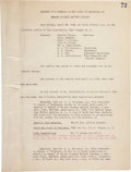 "Autographs:Inventors, Thomas Alva Edison Typed Document Signed ""Thos A Edison"".Two pages. 8.25"" x 11""...."