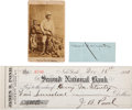 Autographs:Non-American, African Explorers Stanley and Livingston Autograph Lot... (Total: 3Items)