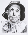"""Autographs:Celebrities, Ray Bolger Publicity Photograph as the Scarecrow From the Wizard of Oz Inscribed """"All the best!/ Ray Bolger/ S..."""