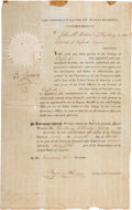 "Autographs:Statesmen, Elbridge Gerry Partly Printed Document Signed as Governor ofMassachusetts. One page, 9.25"" x 15"", Boston, March 7, 1811. ..."