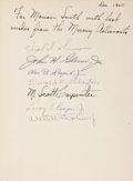 Autographs:Celebrities, Mercury Seven Astronauts Book Signed. Charles Coombs. ProjectMercury. Illustrated by Robert G. Smith. New York: William...