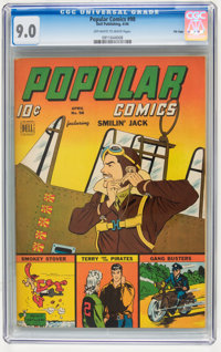 Popular Comics #98 File Copy (Dell, 1944) CGC VF/NM 9.0 Off-white to white pages