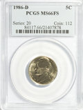 Jefferson Nickels: , 1986-D 5C MS66 Full Steps PCGS. PCGS Population (19/1). NGC Census:(15/0). (#84117)...