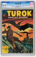 Golden Age (1938-1955):Miscellaneous, Four Color #656 Turok (#2) (Dell, 1955) CGC FN+ 6.5 Off-white to white pages....