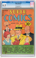Golden Age (1938-1955):Miscellaneous, Super Comics #4 (Dell, 1938) CGC FN+ 6.5 Off-white to white pages....