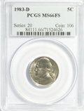Jefferson Nickels: , 1983-D 5C MS66 Full Steps PCGS. PCGS Population (11/0). NGC Census:(0/0). (#84111)...