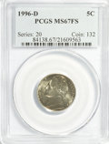 Jefferson Nickels: , 1996-D 5C MS67 Full Steps PCGS. PCGS Population (23/0). NGC Census:(0/0). (#84138)...