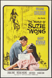 "The World of Suzie Wong (Paramount, 1960). One Sheet (27"" X 41""), Lobby Card (11"" X 14""), Color Stil..."