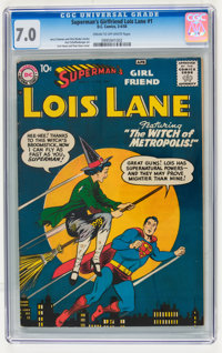 Superman's Girlfriend Lois Lane #1 (DC, 1958) CGC FN/VF 7.0 Cream to off-white pages