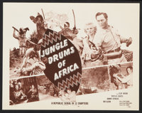 """Jungle Drums of Africa (Republic, 1952). Lobby Card Set of 4 (11"""" X 14""""). Chapter 11 -- """"Bridge of Death..."""