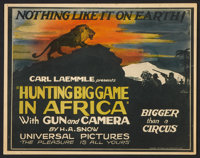 "Hunting Big Game in Africa (Universal, 1923). Title Lobby Card and Lobby Card (11"" X 14""). Documentary. ... (T..."