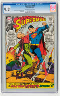 Silver Age (1956-1969):Superhero, Superman #205 (DC, 1968) CGC NM- 9.2 Off-white to white pages....