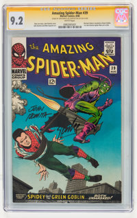The Amazing Spider-Man #39 Signature Series (Marvel, 1966) CGC NM- 9.2 White pages